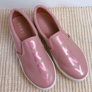 DKNY Metallic Logo Slip On Pink Casual Sneaker